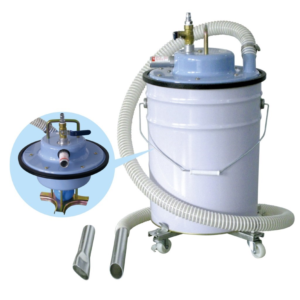 Industrial Air Vacuum Cleaners for Pail Can AVC-55i (worked by compressed air)